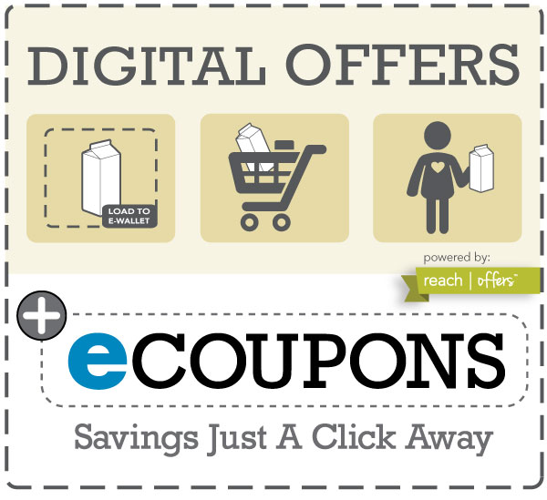 Digital offers ecoupons Hugo's Family Marketplace
