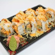 Crunch Munch sushi roll at Hugo's Family Marketplace
