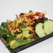 Little Bangkok Sushi ginger dressing salad at Hugo's