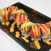 Red Dragon sushi roll at Hugo's Family Marketplace