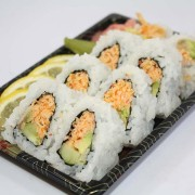 Spicy California roll sushi at Hugo's Family Marketplace