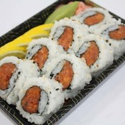 Spicy tuna sushi roll at Hugo's Family Marketplace