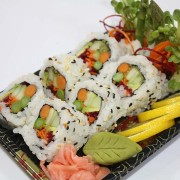 Little Bangkok veggie sushi at Hugo's Family Marketplace