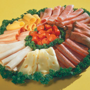 Freshly prepared meat and cheese platter from Hugo's Family Marketplace